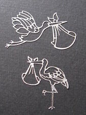 SILVER STORKS CARRYING A BABY,GORGEOUS L@@K