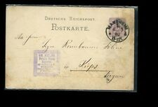 1880 Mannheim Germany postcard Foreign Stamp Importer