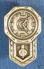 Pewter Grandfather Time Wall Clock Brooch 5182