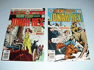 Weird Western Tales 35 9.4 NM & 38 9.0 VF/NM 1976! DC Jonah Hex unrestored L28