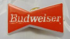 BUDWEISER PIN - Red & White - Classic Bow Tie Design Circa 1994 - Never Used