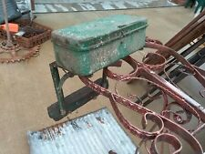 Antiquevintage John Deere Tractor Tool Box Withmounting Brackets Rare Find Green