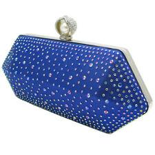 Modern Diamante evening bag decorated satin clutch bag framed party bag