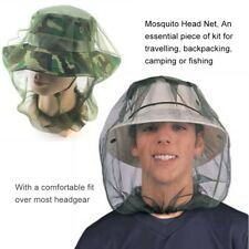 1 Mosquito Head Net unisex bug Netting outdoor camping safari Fishing Hiking Fly