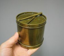 Ancien pot à tabac en forme de tambour 19e.