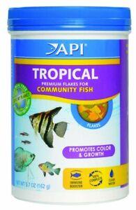 API Tropical Premium Flakes Balanced Diet for Tropical Fish 5.7 Ounces