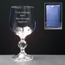 PERSONALISED Engraved Wine Glass 3 Sizes FREE ENGRAVING Any Message Engraved NEW
