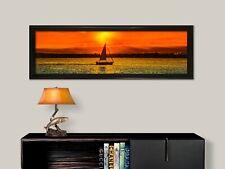 "NAUTICAL PANO 12"" X 36"" FRAMED LARGE ART  WALL DECOR FINE ART PHOTO OFFICE DECOR"
