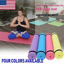 4MM EVA Yoga Mat Thick Durable Non-slip Exercise Fitness Pad Mats Gym Sport US