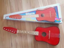 Original Beluga Kindergitarre aus Holz 6 Seiten Spielzeuggitarre Kinder Gitarre