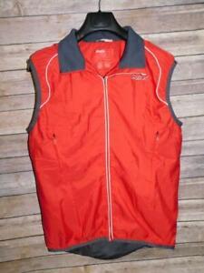 Swix L Red Gray Vest Zip Front Cross Country Ski Windbreaker Jacket Womens Lg