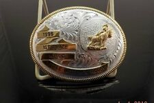 TROPHY BUCKLE 1995 1ST PLACE W.P.S.C. LITTLE BRITCHES RODEO MONTANA SILVERSMITHS