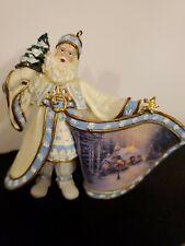 Thomas Kinkade Santa Claus Ornament by Ashton Drake Frosty Christmas Eve