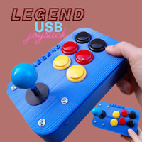 Arcade Joystick USB per Pc Emulatore o Raspberry pi  Blu bottoni multi colore