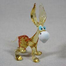 Donkey Collectible Animal Figurine Blown glass Lampwork Handmade