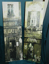 NICE CANVAS FRENCH STREET WALL ART PAIR! ITALY! FRANCE!