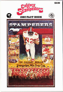 1982 Calgary Stampeders CFL Football Fact Book Program Media Guide