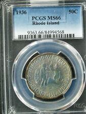 1936 U.S. Rhode Island Commemorative Silver Half $  MS66 (PCGS) (hazy)  stk#4568