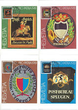 SUISSE - 4 CARTES MAXIMUM NEUVES - PRO PATRIA 1981