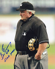BRUCE FROEMMING  MLB UMPIRE  5162 GAMES   ACTION SIGNED 8x10
