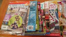 25 Assorted Quilting Magazines-Back Issues Domestic & International  Brand New