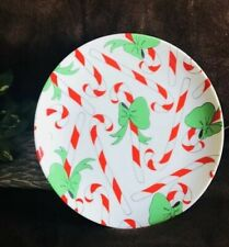 Vtg Fitz & Floyd Decorative Christmas Candy Cane Plate-Rare Collectible