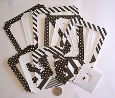 SCRAPBOOKING NO 485 - 12 DIE CUT HEAVY WEIGHT PAPER MIXED PHOTO FRAMES