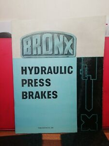 BRONX HYDRAULIC PRESS BRAKES INFORMATION CATALOGUE BROCHURE