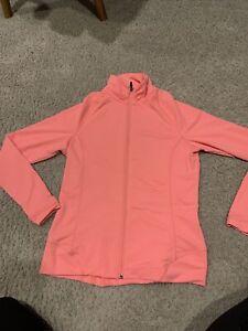Peter Millar Medium Pink Wicking And 50+upf Full Zip Athletic Coat