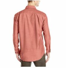 Pendleton Men's Blaine Shirt, Red Chambray Large