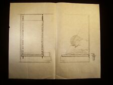 Outdoor Swing 1946-59 Original Pencil Sketch By C. Schattauer Kelm
