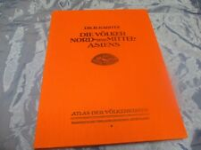 Antik Buch 1925 , Atlas der Völkerkunde , Asien ,Völker Nord - und Mittelasiens