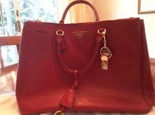 Prada handbag saffiano Red With Purse Charm
