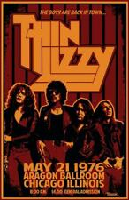 THIN LIZZY concert poster - The Boys Are Back In Town / 19 x 13 inch