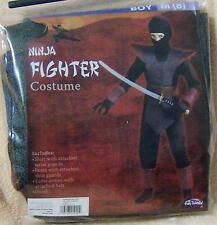 Medium 8 NINJA FIGHTER Costume Disguise Childs Kid Boy Pretend Halloween TOY NWT