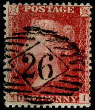 SG40, 1d rose-red PLATE 63, LC14, FINE USED. Cat £50. MI