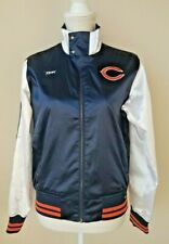 Reebok NFL Chicago Bears Women's Satin Jacket Windbreaker Size Medium