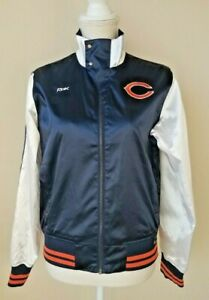 Reebok NFL Chicago Bears Women's Satin Jacket Windbreaker Size Medium