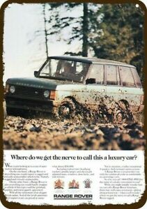 1987 RANGE ROVER by LAND ROVER SUV 4X4 TRUCK Vintage Look DECORATIVE METAL SIGN