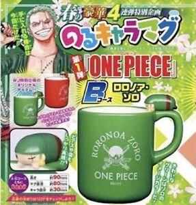 ONE PIECE Riging Character Mug Cup Roronoa Zoro Green Anime Tracking F/S JP New