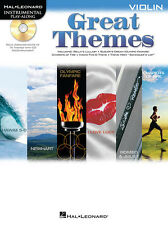 "Instrumental Play-Along-Violin ""Great Themes"" Music Book/Cd-Brand New On Sale!"