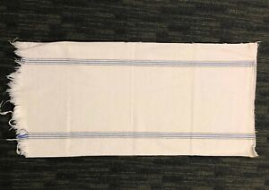 Antique STRIPED HEMP LINEN FEED SACK Fabric GRAIN BAG 18x42 Gettysburg History