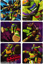 Teenage Mutant Ninja Turtles Stickers x 6  - Birthday Party Supplies TMNT Gifts