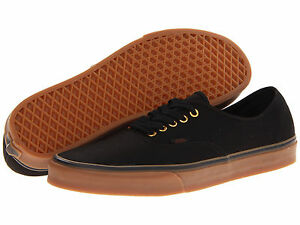 Vans Authentic Black Rubber Canvas VN-0TSVBXH Unisex 100% Authentic Brand New