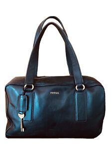 Fossil-Black Leather Bag-Size Med/Large