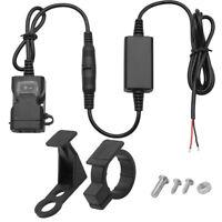 Dual USB Chargeur Prise Moto Guidon Interrupteur Supports Étanche Pr iPhone GPS