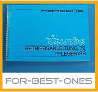 NEU Betriebsanleitung Handbuch Bedienungsanleitung Serviceheft Porsche 911 Turbo