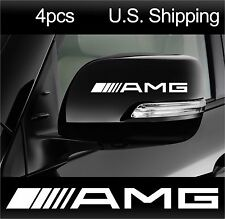 4 AMG Stickers Decals Door Handle Wheels Wing Mirror Mercedes Benz  WHITE