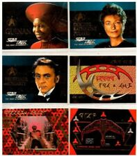 1995 STAR TREK THE NEXT GENERATION KLINGON AND FOIL EMBOSSED CHASE CARD SET