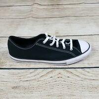 Converse Womens Black Chuck Taylor All Star  Ox Low Top Shoes Size 9.5 NWB